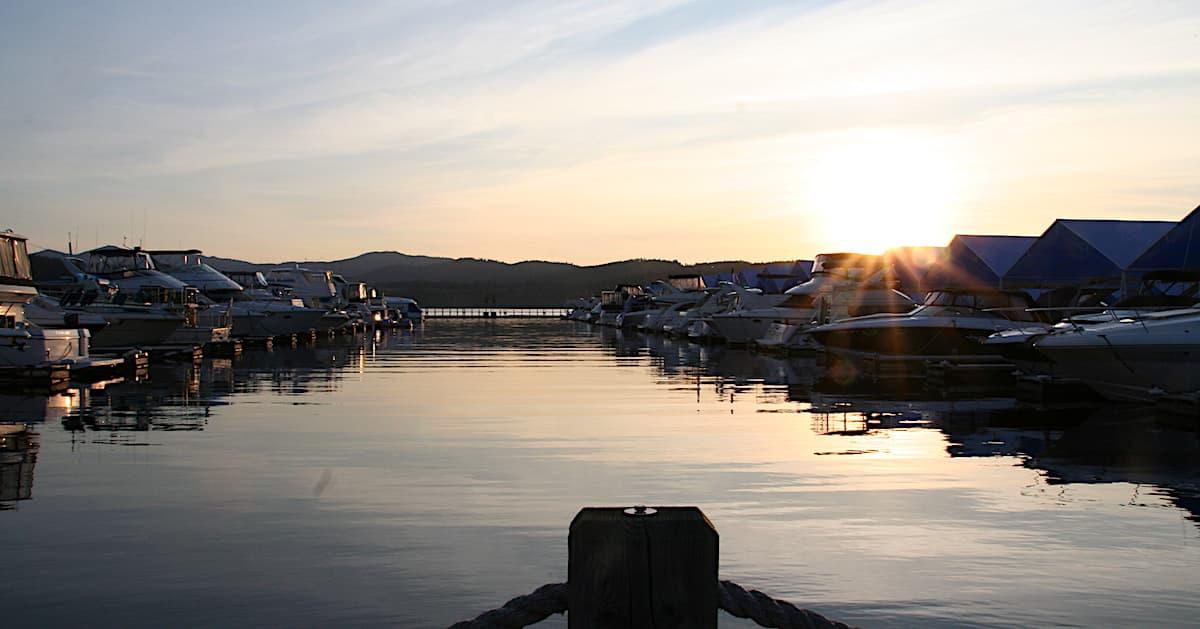 Lake Coeur d'Alene, Idaho, Sonnenuntergang. Foto: Beate Ziehres