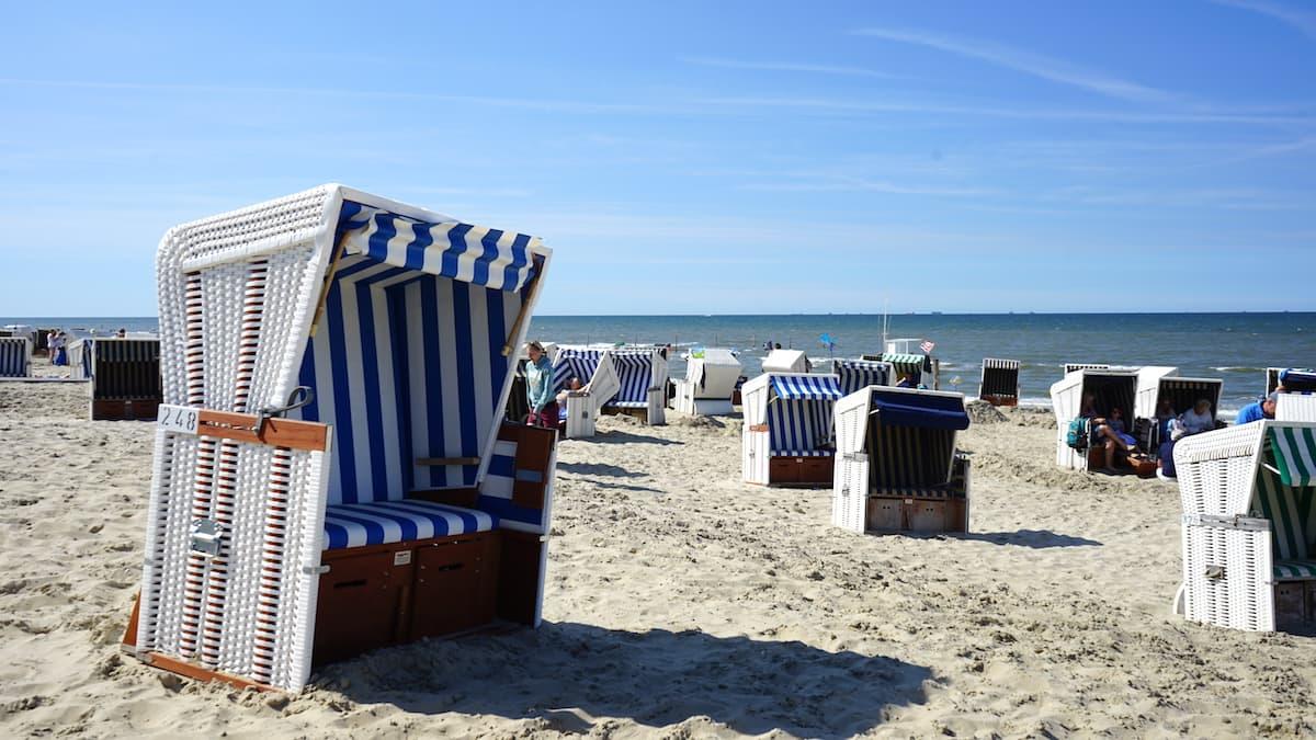 Wangerooge Strand mit Strandkörben – Foto: Beate Ziehres