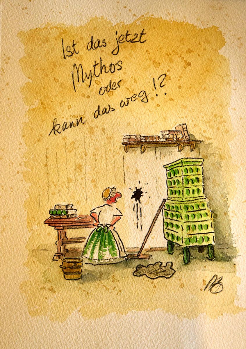Karikatur aus dem Depot des Lutherhauses. Foto: Beate Ziehres