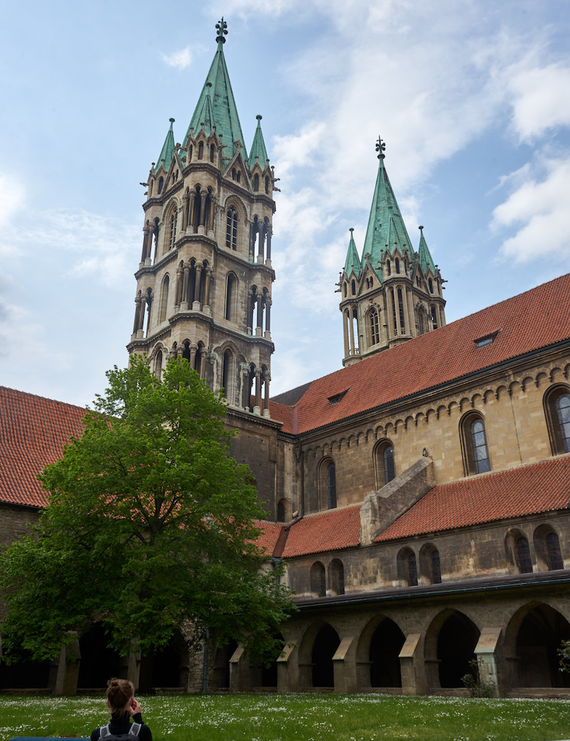 Westtürme des Naumburger Doms. Foto: Beate Ziehres