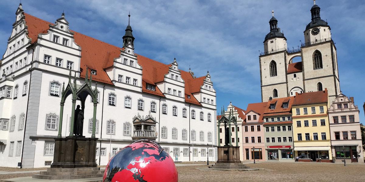 Marktplatz und Stadtkirche Lutherstadt Wittenberg. Foto: Beate Ziehres