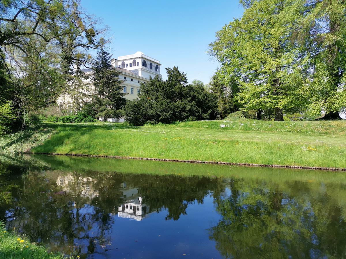 Schloss Wörlitz, vom Park aus gesehen. Foto: Beate Ziehres