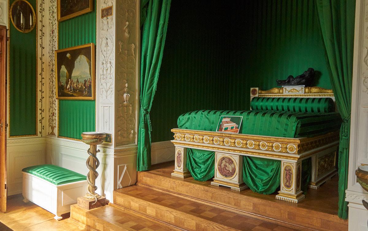 Schloss Wörlitz, Welterbe Sachsen-Anhalt, Schlafzimmer der Fürstin. Foto: Beate Ziehres