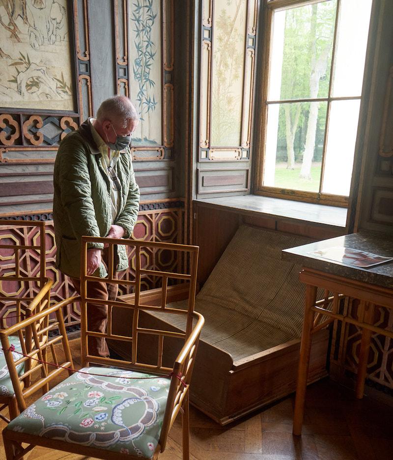Schloss Wörlitz, chinesisches Schlafzimmer, Uwe Quilitzsch. Foto Beate Ziehres