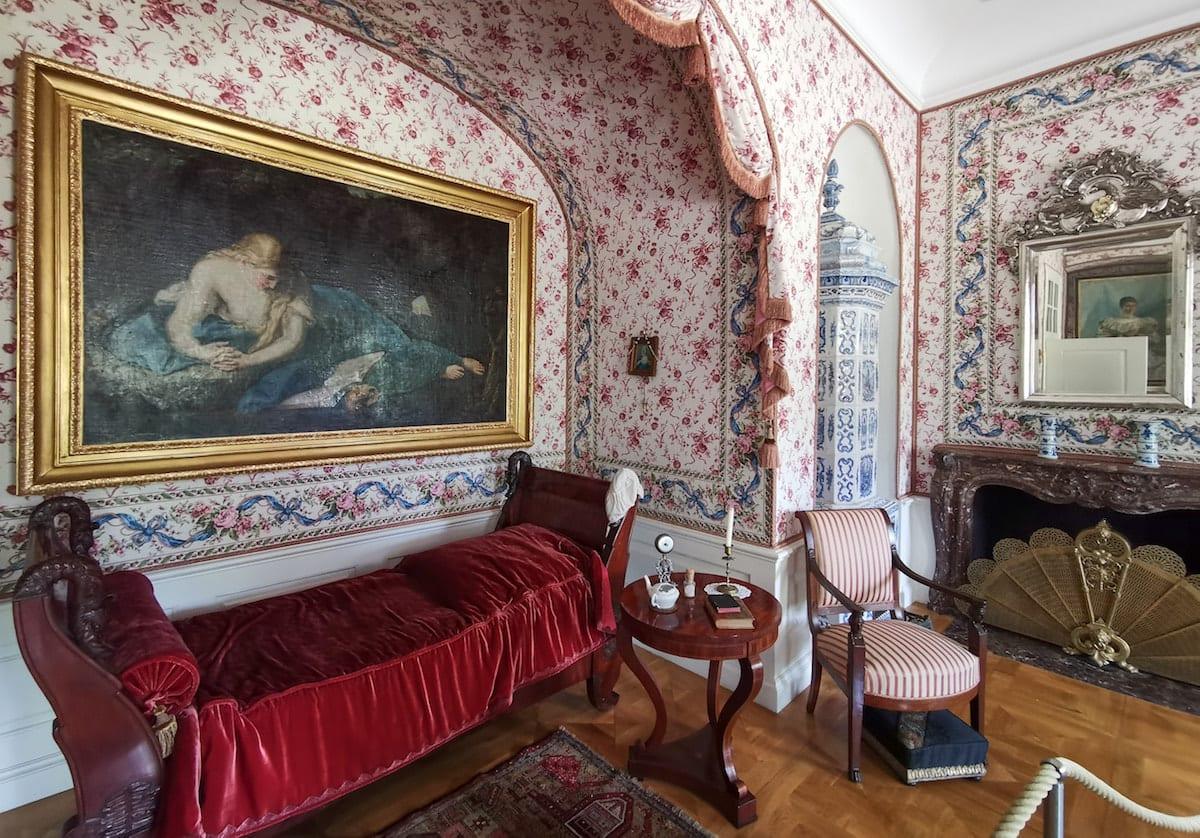 Schlafzimmer von Rose im Schloss Rogalin. Foto: Beate Ziehres, Reiselust-Mag