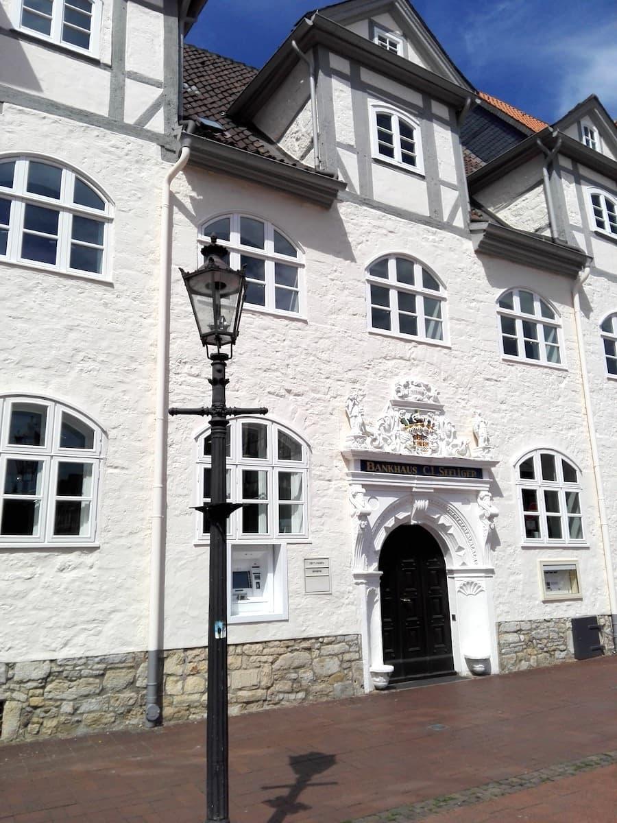 Wolfenbüttel: Bankhaus Seeliger, früher die Fürstliche Apotheke.
