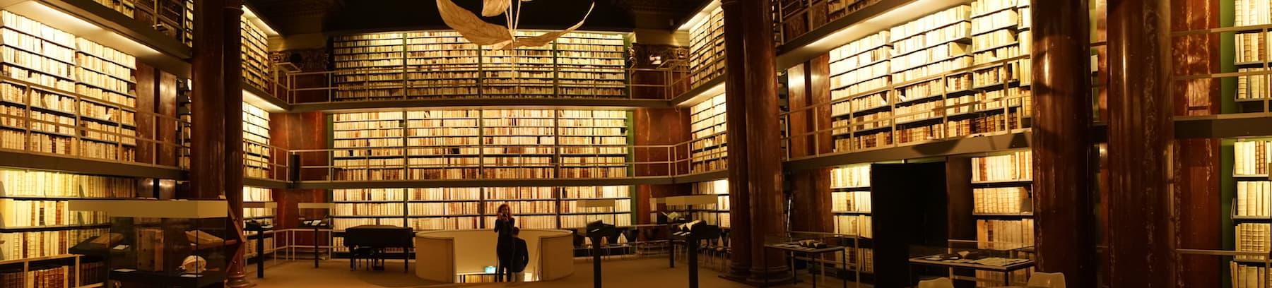 Blick in die Augusteerhalle der Herzog-August-Bibliothek in Wolfenbüttel.