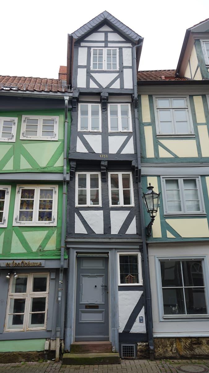 Wolfenbüttel, schmalstes Haus Niedersachsens.